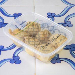 Buñuelos de bacalao envasados